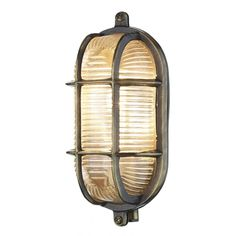 David Hunt Lighting ADM5275 Admiral Small Oval Outdoor Wall Light in Antique Brass