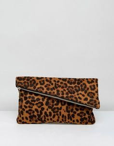 ASOS Leopard Foldover Clutch Bag at asos.com | @giftryapp