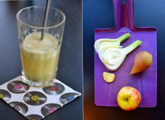 Fræk fennikeljuice med pære, ingefær & æble (og lidt lakridssmag)