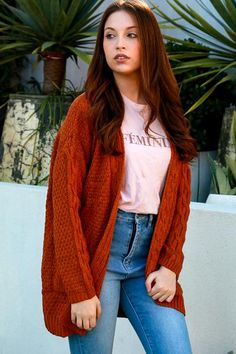 No button cardigan. Orange Cardigan, Orange Color, Knitwear, Buttons, Clothes For Women, Sweaters, Stuff To Buy, Fashion, Outfits For Women
