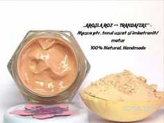 BEAUTICIAN. STELA: ,,ARGILA ROZ & TRANDAFIR'' - Masca naturala, ptr t... Peanut Butter, Clays, Fine Dining, Nut Butter