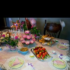 Little girls tea party for my daughter Ellia Sol.