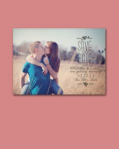 Photo Save the Date Postcard - Printable, Custom - DIY. $12.00, via Etsy.
