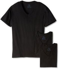 Men's Classics 3 Pack Black V-Neck Tee