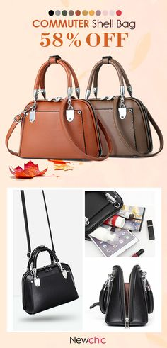 9ae3e296aaf0 Women Vintage Commuter Shell Bag Shoulder Bag Designer Handbag is designer