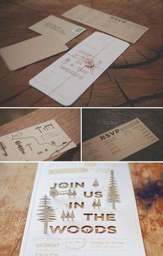 laser-cut invitation