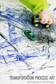 Transportation Process Art Activity - fun art project for kids of all ages!