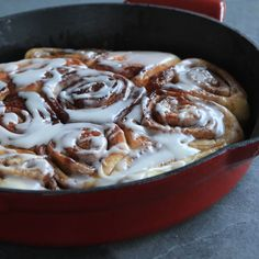 A Midwestern bakery classic with a little help from our favorite cast iron skillet. Skillet Cinnamon Rolls can be made completely on the stovetop and with ingredients you likely already have on hand.