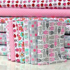 'Urban Zoologie Mini Pink' FQ Bundle Cottons: 7 Fabrics by Robert Kaufman | www.plushaddict.co.uk