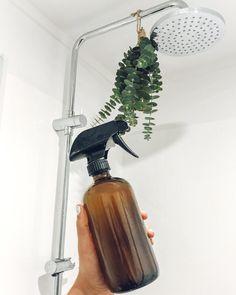 DIY Eucalyptus Oil and Shower Spray — Tiny Blue Earth Eucalyptus Shower, Eucalyptus Oil, Eucalyptus Essential Oil, Essential Oils, Eucalyptus Bouquet, Eucalyptus Wedding, Eucalyptus Centerpiece, Household Plants, Spa Shower