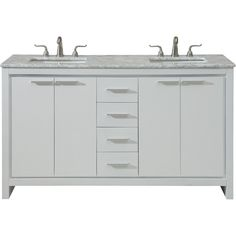 Designed with an Italian modernist concept. our Filipo vanity makes a striking statement reflecting clean. With a spacious and lustrous Italian Carrara white marble top. and 2 fashionable rectangular white under mount po. White Vanity, White Sink, Vanity Set, Marble Top, White Marble, Office Bathroom, Porcelain Sink, Vanity Cabinet, Marble Countertops