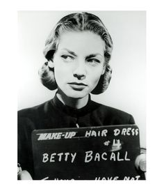 Lauren Bacall hair and makeup test for To Have and Have Not - 1944