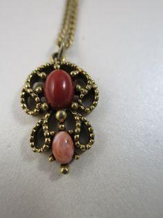 Avon Castillan Necklace Antiqued Gold Tone by BonniesVintageAttic, $14.50