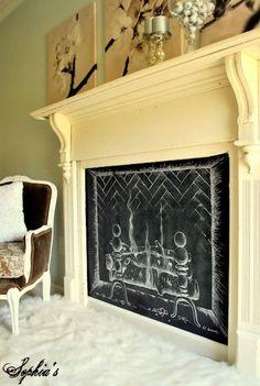#decorative #fireplace #unfunctional #decor #small #space #living #room | DIY Bazaar