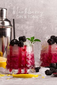 Rum Cocktail Recipes, Gin Recipes, Cocktails, Cocktail Drinks, Alcoholic Drinks, Yummy Recipes, Beverages, Blackberry Gin, Blackberry Crumble