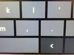Onscreen keyboard comma and full stop via @FontPicker