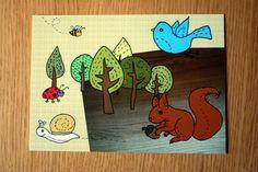 Postkarte Tiny Forest