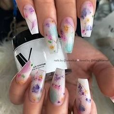 Nails flowers 30 Best Gel Nail Designs to Copy in 2019 30 Best Gel Nail Designs to Copy in 2019 Summer Acrylic Nails, Best Acrylic Nails, Summer Nails, Spring Nails, Polygel Nails, Dope Nails, Coffin Nails, Stiletto Nails, Cute Acrylic Nail Designs