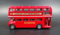 """Welly London Bus No. 61951 """"London City Sightseeing"""" Double Decker Red Die Cast Toy Vehicle https://treasurevalleyantiques.com/products/welly-london-bus-no-61951-london-city-sightseeing-double-decker-red-die-cast-toy-vehicle #Welly #London #England #1950s #50s #Fifties #Sightseeing #DoubleDecker #Buses #Diecast #Toys #Vehicles #Autos #Automobiles #Collectibles #Public #Transportation"""