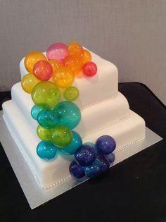 Bubble Cake with pretty gelatine balls .