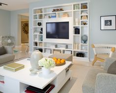 Built in entertainment center- wish we could sink ours in like that