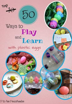 50 Ways to Play and Learn with Plastic Eggs #playfullearning | P is for Preschooler