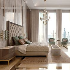 Italian Designer Art Deco Inspired Upholstered Bed with Tall Headboard - Juliettes Interiors Art Deco Bedroom, Bedroom Sets, Home Bedroom, Modern Bedroom, Bedroom Furniture, Furniture Design, Bedroom Decor, Luxury Furniture, Bedding Sets