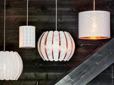 I februari kommer flera härliga nyheter till IKEA varuhusen. Nya NYMÖ och ÖVERRUD lampskärmar är modern design i kombination med vintageinfluenser - skapade av Stockholms designstudio WIS design.