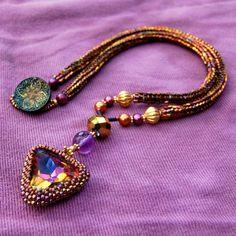 Vintage Bezeled Swarovski Necklace by Giftbearer on Etsy