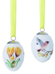 Royal Copenhagen Easter 2017 Pair of Eggs - Waxwing & Crocus NEW Boxed Royal Copenhagen, China Porcelain, Washer Necklace, Eggs, Pottery, Easter, Pairs, Collection, Ceramics