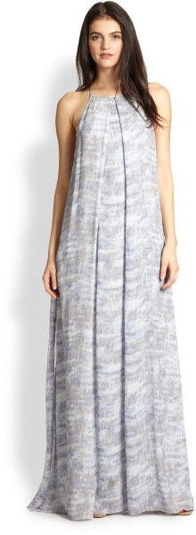 Silk Printed Chiffon Maxi Dress