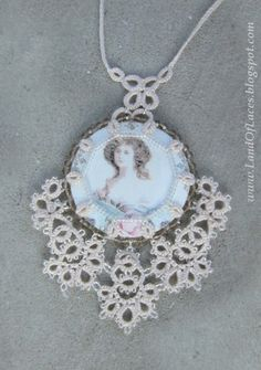 Land Of Laces: Romantic Pendant in lace cover