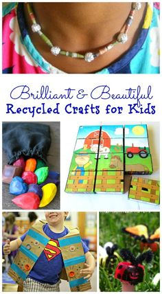 Awesome recycled craft projects for kids -- these are just brilliant ideas!