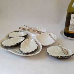 individual oyster shell serving dishes by sophisticatedflorida