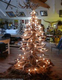 Western Design Conference buyers were able to look at furniture made out of antlers, like the 'Christmas tree' made by Dan MacPhail of MacPhail Studios seen in this f...