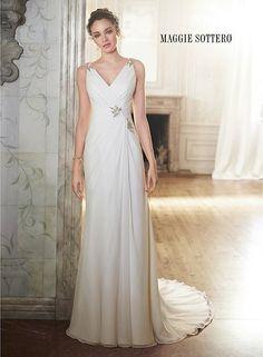 20 Chiffon Wedding Dresses for a Romantic Bridal Look - MODwedding
