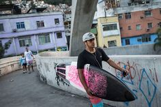 Riding the waves out of Rio's slums