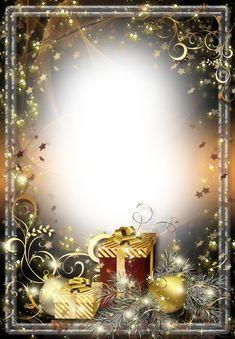 Christmas-Photo-Frame-Twinkling-Stars.png (889×1280)
