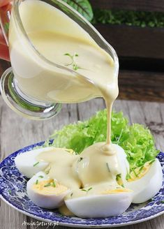 Sos musztardowy na zimno. Cold mustard sauce. My Favorite Food, Favorite Recipes, Cooking Recipes, Healthy Recipes, Polish Recipes, Food Hacks, Great Recipes, Food To Make, Food And Drink