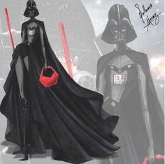 "Star Wars  Fashion Collection by Guillermo Meraz ""Darth Vader"""
