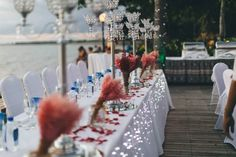 Flower arrangements, Styling and lighting by Paradise Bride Wedding Receptions, Flower Arrangements, Paradise, Table Decorations, Bride, Lighting, Flowers, Home Decor, Style