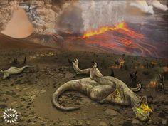 Volcanes, no un meteorito, causa de la extinción de los dinosaurios - Volcanoes, Not Asteroid, May Have Taken Out the Dinosaurs