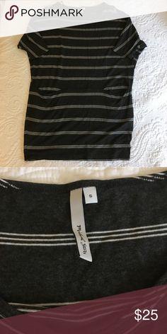 Michael Stars Tunic Grey & white stripped tunic. Pockets on front. Michael Stars Tops Tunics