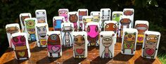 Love Bots a tiny domino robot that loves you unconditionally by Gary Hirsch artshop on Etsy, $14.00