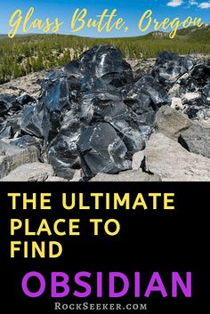 Where is obsidian found? Glass Butte is the best location in Oregon to find Obsidian. And its open to the public! Keep reading to learn more! Oregon Vacation, Oregon Road Trip, Oregon Travel, Travel Usa, Places To Travel, Places To Go, Gem Hunt, Fossil Hunting, Rock Hunting