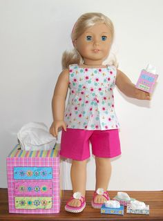 Sewing for American Girl Dolls: Tissue Boxes for your AG Doll and you.
