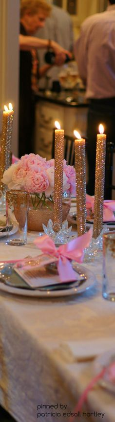 pink & gold table setting ✿⊱╮
