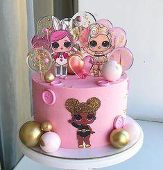 Doll Birthday Cake, Funny Birthday Cakes, Ice Cream Birthday Cake, Birthday Party Desserts, Barbie Theme Party, Doll Party, Lol Doll Cake, Diaper Cake Centerpieces, Ballerina Cakes