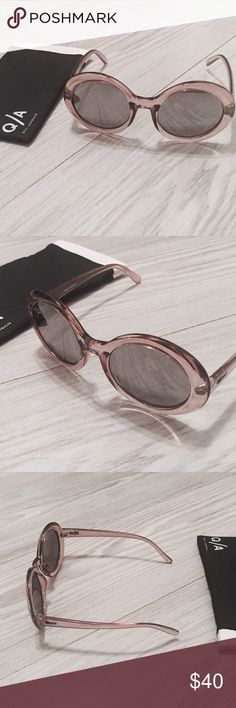 QUAY AUSTRALIA Sunglasses A light beige brown hued sunglasses frame with mirror lenses that give a relaxing classy look! New and comes with its protective baggie! Quay Australia Accessories Sunglasses