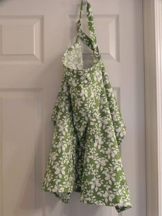 Green and white Leaf print nursing cover by CrazyPresCreations, $10.00